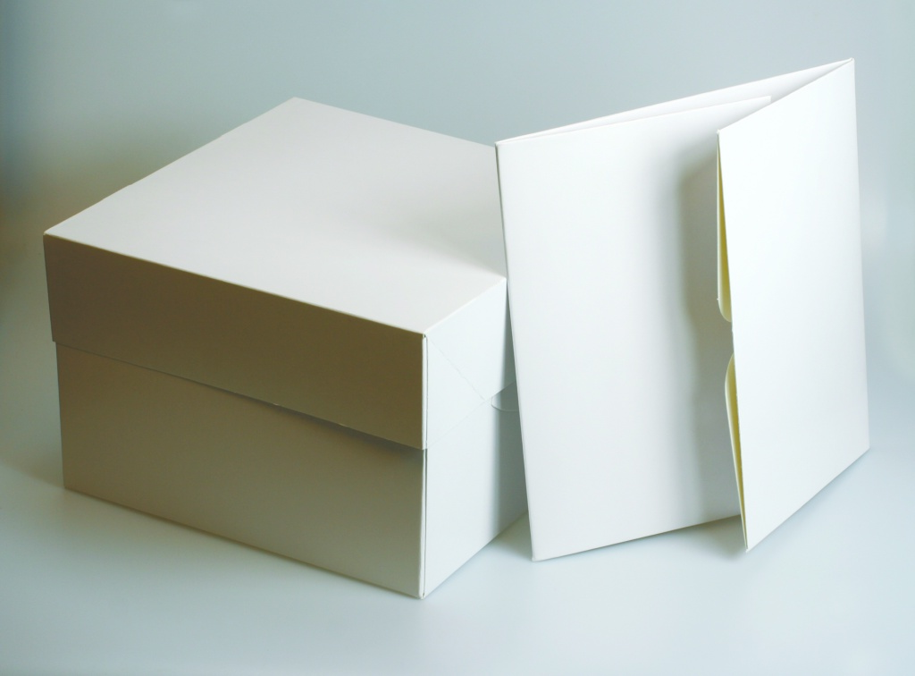 Culpitt Square White Cake Box - 12""