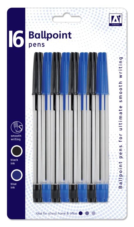 Anker Ballpoint Pens - Pack 16