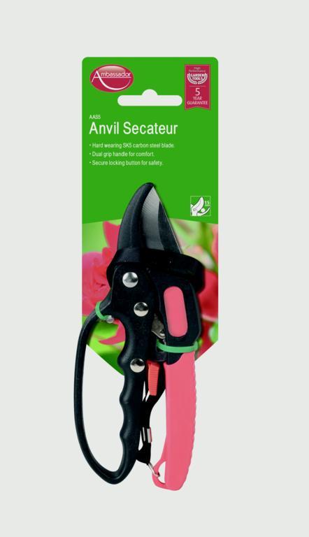 Ambassador Anvil Secateur - 18mm Cutting