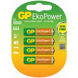 GP AAA EkoPower Batteries Pack 4