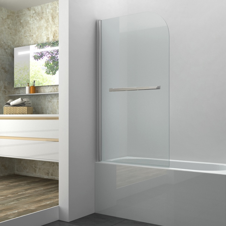 SP, Single Bath Screen with Towel Rail - 1400 x 800mm