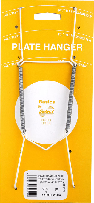 """Basic Plate Hanger Wire - 9 1/2"""" x 14""""  No. 3"""