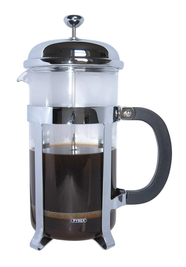 Café Ole Chrome Cafetiere - 8 Cup