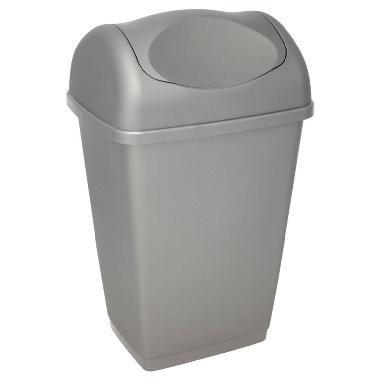 Tontarelli Swing Top Bin 25L - Platinum