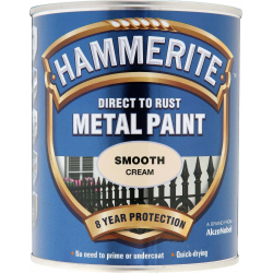 Hammerite Metal Paint Smooth 750ml Cream