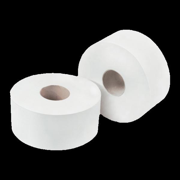 Concept 2 Ply Mini Jumbo Toilet Rolls Pack 12 - 150m x 9cm White
