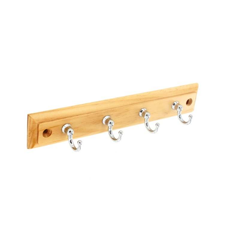 Securit 4 CP Hooks On Plaque - 220mm