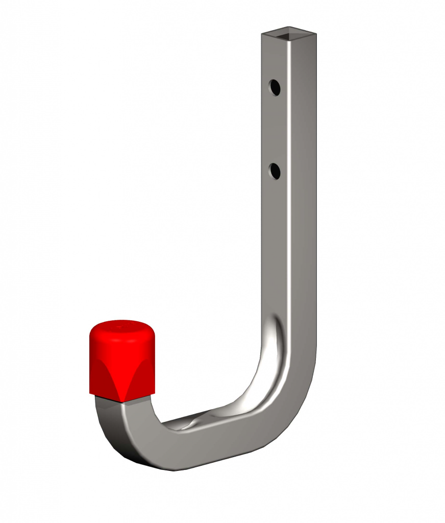 Alfer Wall Hook Galvanised Steel - 80mm