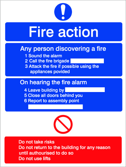 House Nameplate Co Fire Action Sign - 20X15