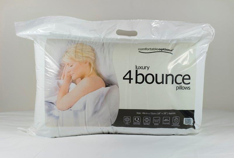 Comfortable Options Bounce Pillows 4 Pack