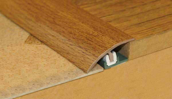 Stikatak Clip System Threshold - 0.9m x 38mm Dark Oak
