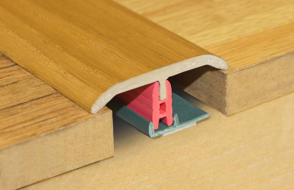 Stikatak Clip System Threshold - 0.9m x 50mm Walnut