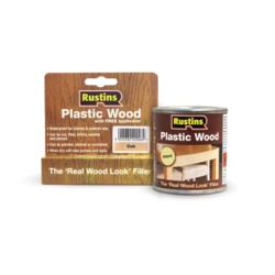 Rustins Plastic Wood 30g Oak