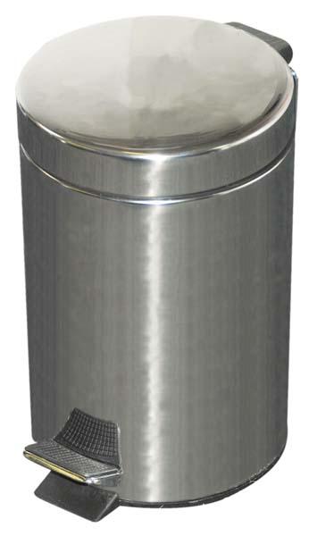 Kingfisher Pedal Bin Stainless Steel - 12L