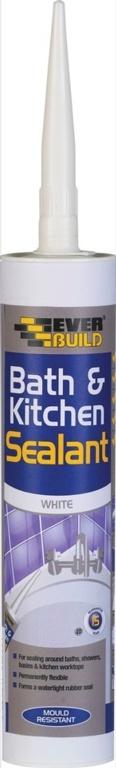 Everbuild Bath & Kitchen Sealant - C3 White