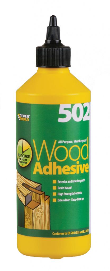 Everbuild Weatherproof Wood Adhesive - 500ml Bottle