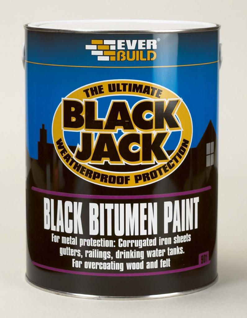 Everbuild Black Bitumen Paint - 2.5l