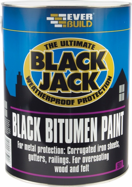Everbuild Black Bitumen Paint - 5Lt