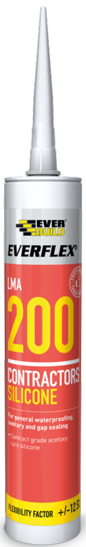 Everbuild Silicone 200 - 295ml Clear