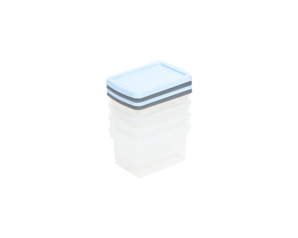 Wham Boxes And Lids 1.5L - 2 Assorted Colours Pack 4