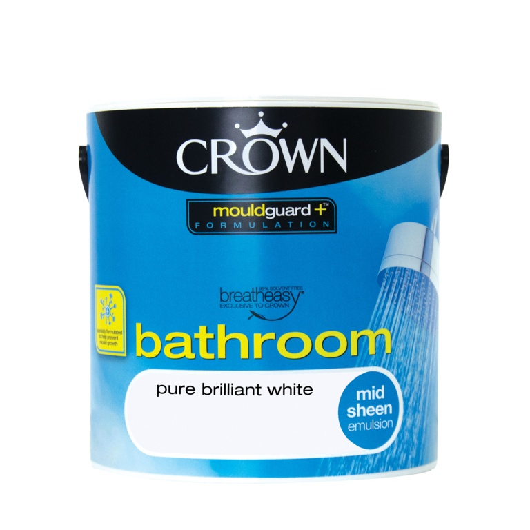 Crown Bathroom Midsheen 2.5L - Pure Brilliant White