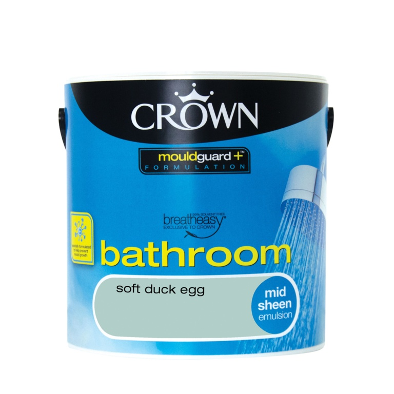 Crown Bathroom Midsheen 2.5L - Soft Duck Egg