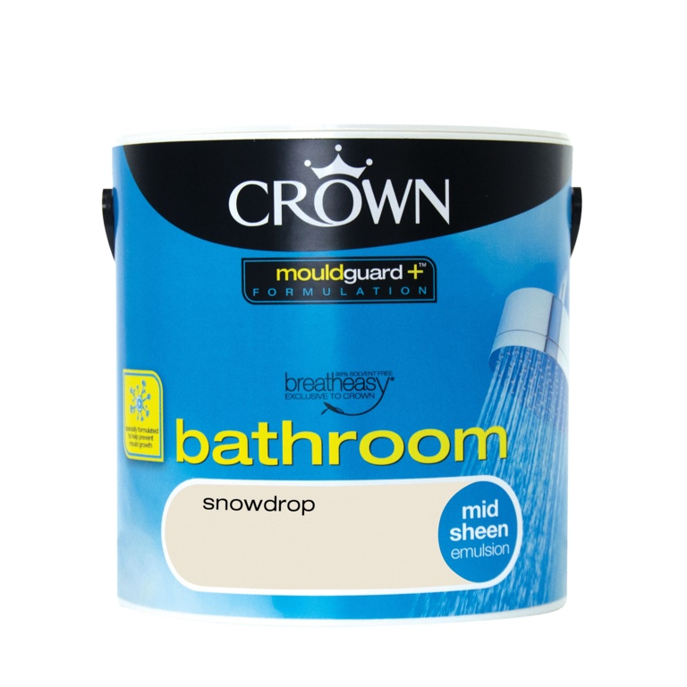 Crown Bathroom Midsheen 2.5L - Snowdrop