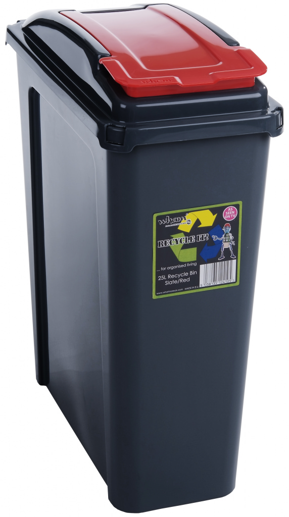 Wham Recycling Bin 25Ltr - Red