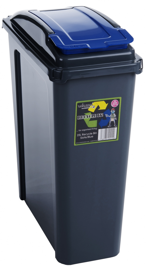 Wham Recycling Bin 25Ltr - Blue