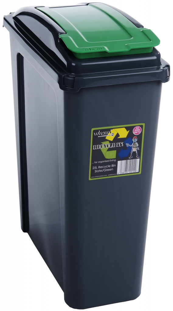 Wham Recycling Bin 25Ltr - Green