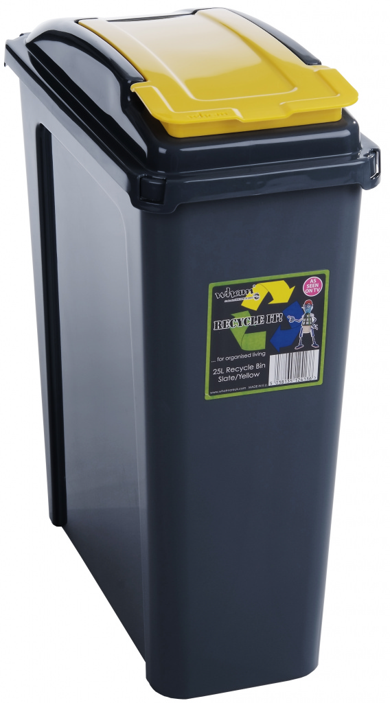 Wham Recycling Bin 25Ltr - Yellow