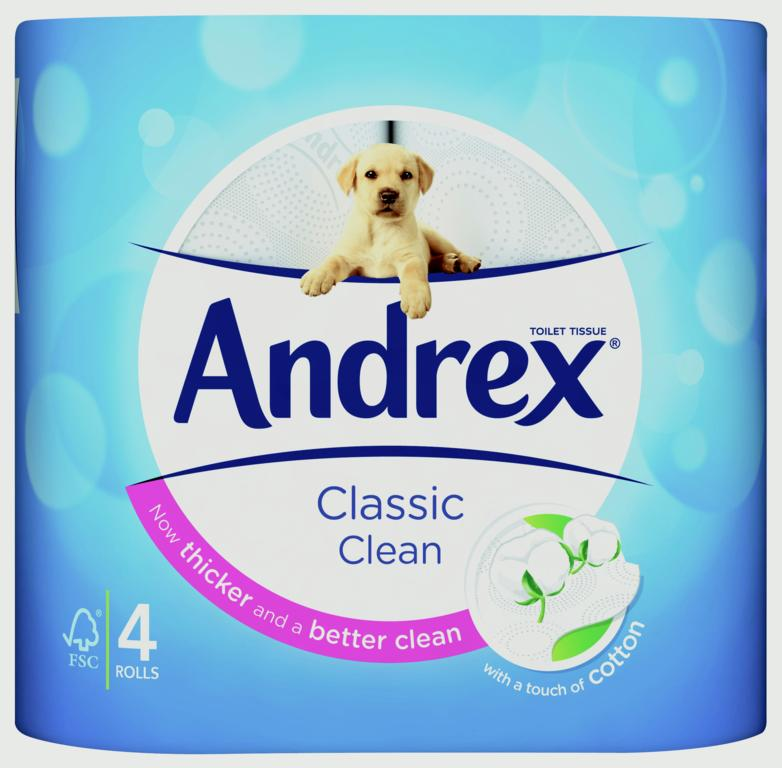 Andrex White Toilet Roll - Pack 4