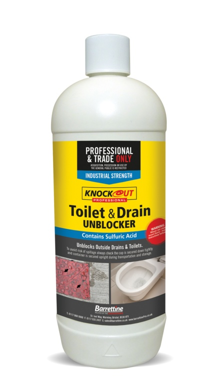 Knockout Toilet & Drain Cleaner - 1L x 4