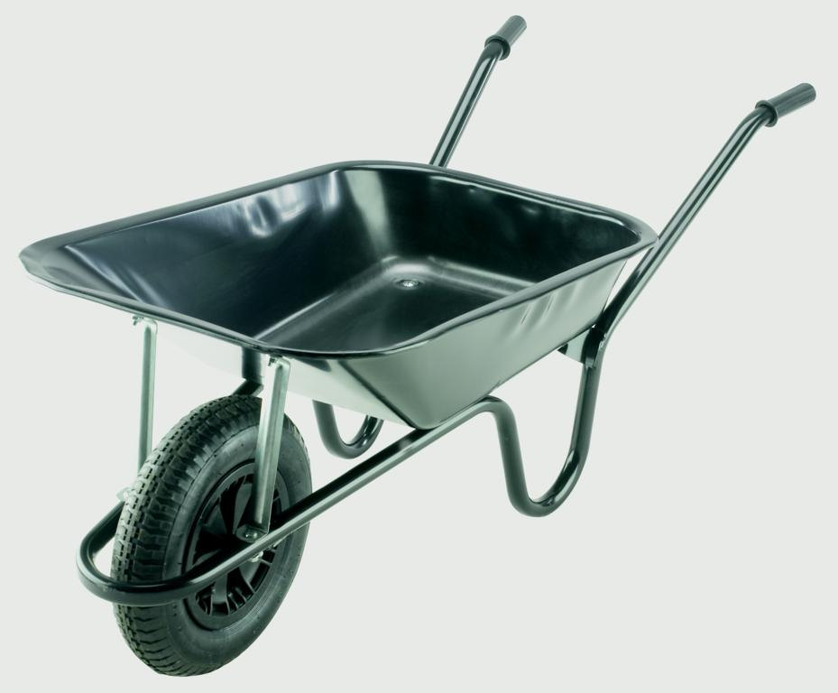 Walsall Wheelbarrow Builders Wheelbarrow With Pneumatic Tyre - Black