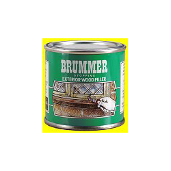 Brummer exterior wood filler medium tin stax trade centres for Exterior wood filler paintable