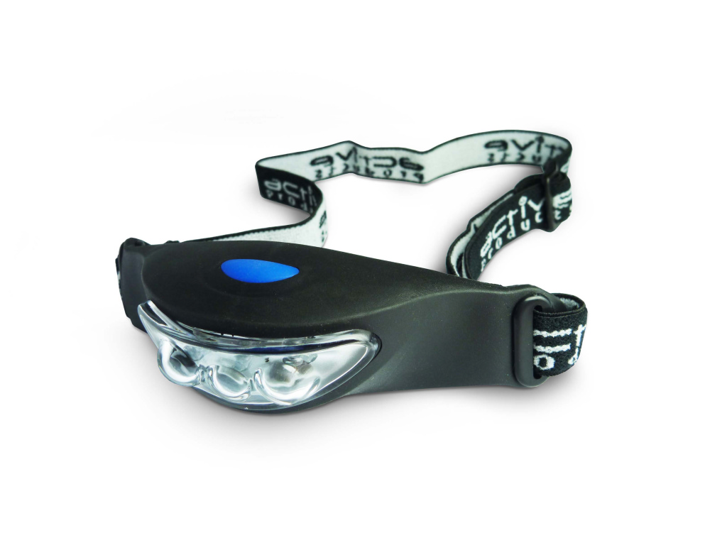 Active 3 LED Rubber Head Torch - 2 x C2032 Batteries Included