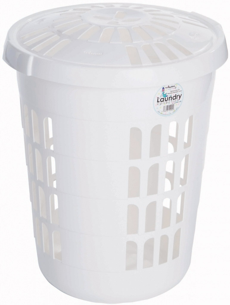 Casa Round Laundry Hamper - Ice White