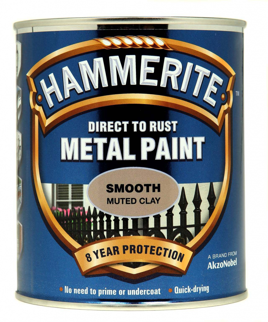 Hammerite Metal Paint Smooth 750ml - Muted Clay