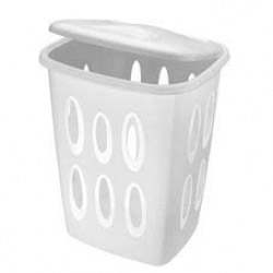 Tontarelli Coverline White Plastic Laundry Hamper
