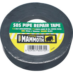 Everbuild SOS Pipe Repair Tape 25mm x 10m - Black