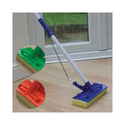 JVL Flat Sponge Mop And Handle