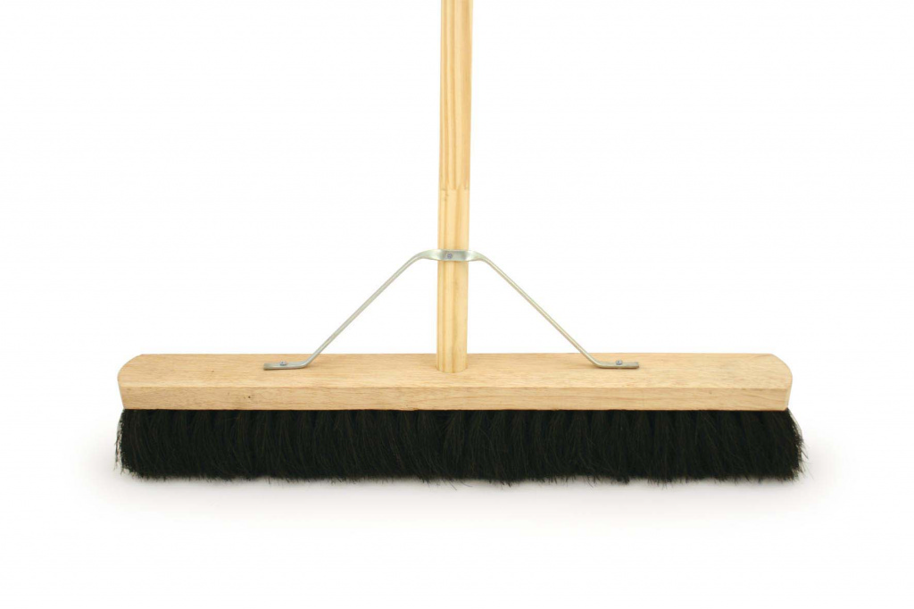 "Bentley Black Coco Brush With 4'6"" Handle - 24"""