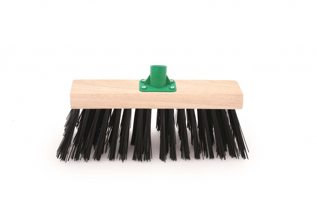 Bentley Black PVC Yard Brush With Bracket - 12""