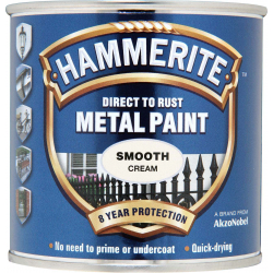 Hammerite Metal Paint Smooth 250ml Cream