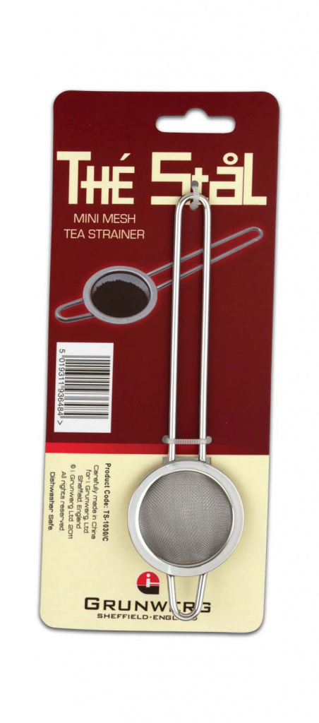 Grunwerg Mesh Strainer Carded - Stainless Steel