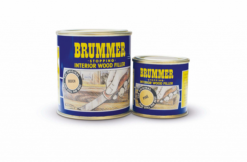 Brummer Yellow Label Interior Filler - 250g Light Oak