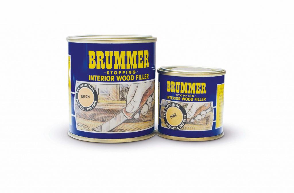 Brummer Yellow Label Interior Filler - 250g Light Walnut