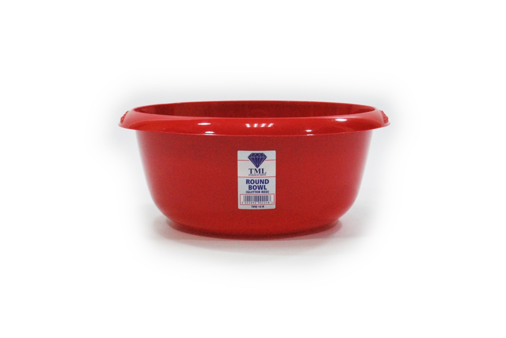 TML Round Bowl - 6L Red Glitter