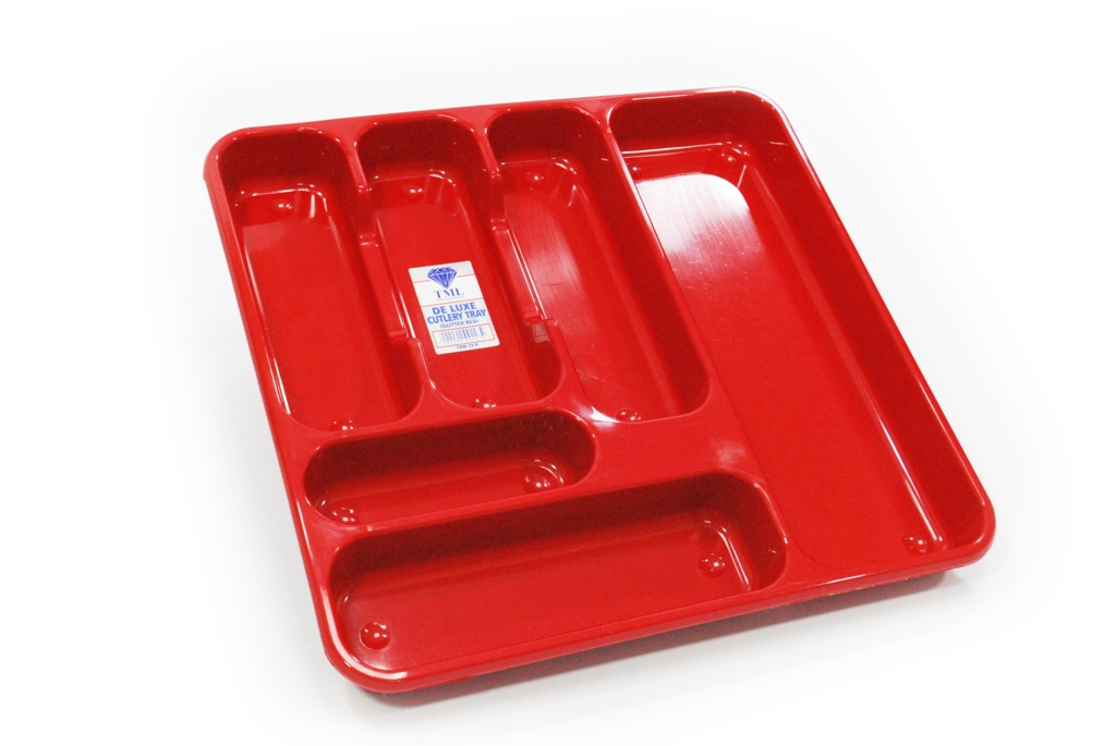 TML Large Cutlery Tray - Red Glitter