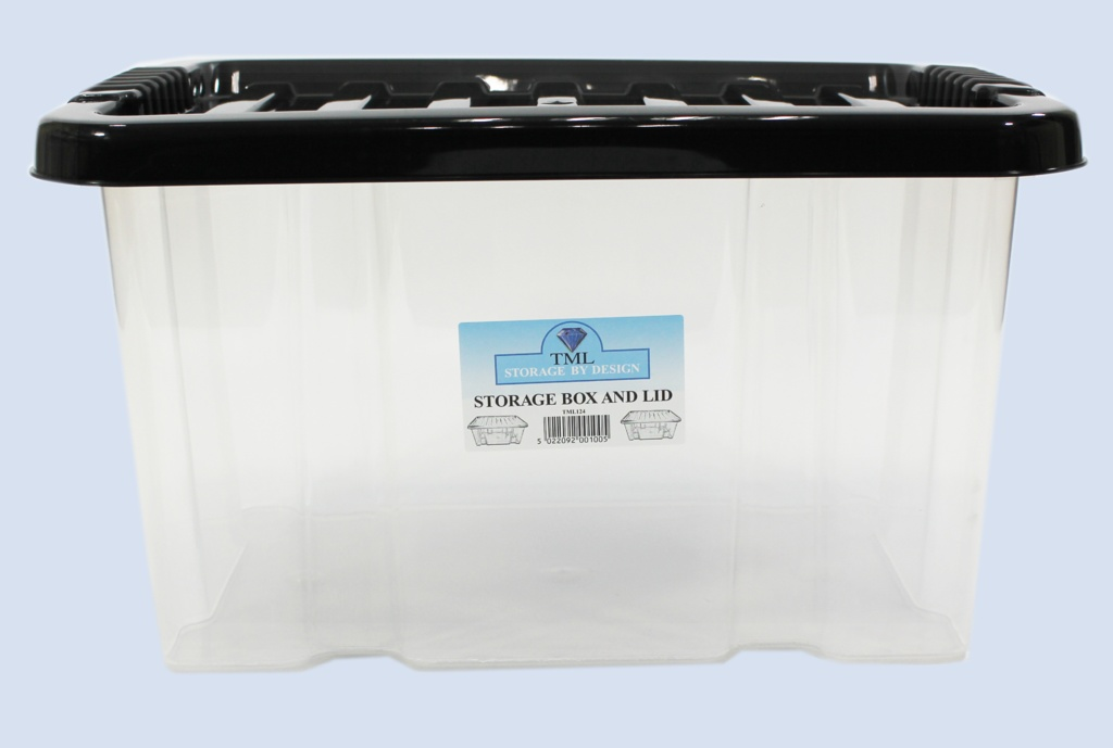 TML Storage Box & Lid - 24L Clear